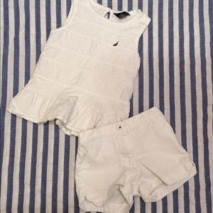 Nautica top and shorts 2T/4T